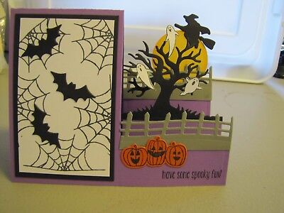 Have some Spooky Fun Halloween Bat step Handmade Card Kit 4 with some stampin up