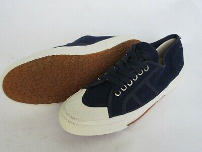 Ital Bordschuhe Army Sneaker Canvas Navy Blue Leinen Turnschuhe Sneakers Gr 42 Army Navy Schuhe