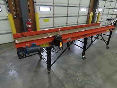 12 X 24 Portable Slider Bed Belt Conveyor End Drive 1ph 120v Adj Speed 24fpm