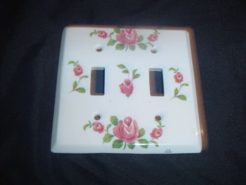 French - Limoges outlet cover/switch plate cover.  (Made of Porcelain)