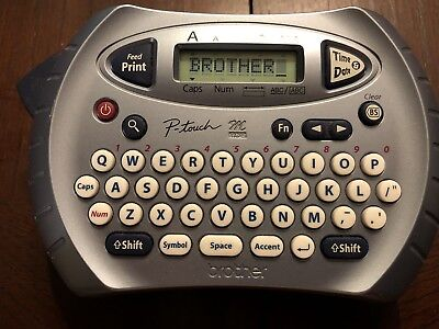 Used Brother P-touch Pt-70 Label Sticker Printer Works Great