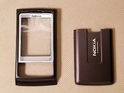 New Nokia OEM Housing Faceplate Lens Back Cover Battery Door for 6270 - BROWN Oem Nokia Faceplate
