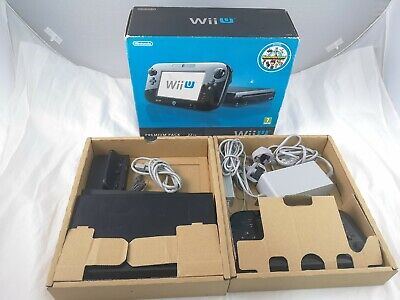 Nintendo Wii U Premium Edition 32GB Black Console & Tablet Boxed Complete