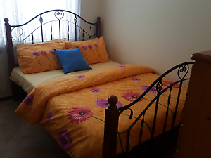 Queen bed iron wood Altona North Hobsons Bay Area Preview