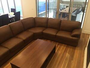 Brand New Harvey Norman Newington Leather Lounge 7 Seater Diamond Creek Nillumbik Area Preview