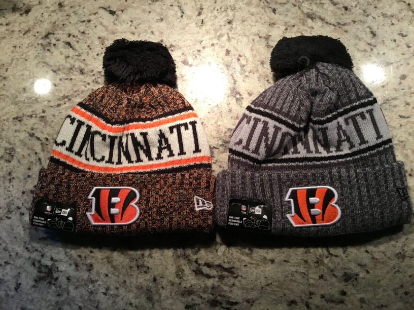 New Era Cincinnati Bengals 2018 NFL Sideline Salute to Service Knit Hat