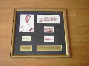 MALCOLM CAMPBELL - BLUEBIRD - HAND SIGNED DISPLAY PROFESSIONALLY FRAMED-UACC RD
