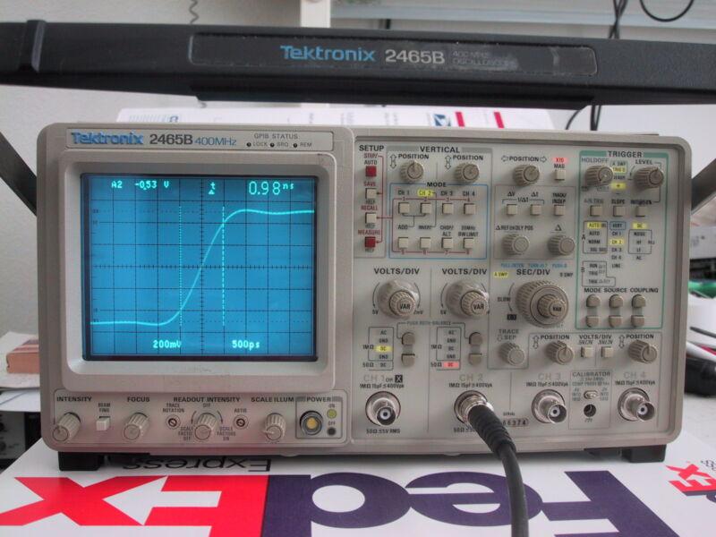 Low hours TEKTRONIX 2465B 400MHz OSCILLOSCOPE; refurb/cald @BIN; 1 Yr Guar avail