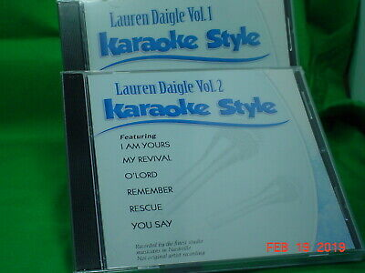 Karaoke Cdgs, Dvds & Media Lauren Daigle Volume 1 & 2 Karaoke Style New Cd+g Daywind 12 Songs Neither Too Hard Nor Too Soft Musical Instruments & Gear