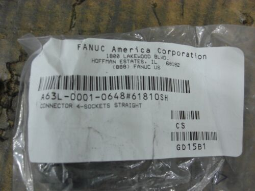 Fanuc Electrical Connector  A63L-0001-0648/61810SH, Straight 4-Socket Power
