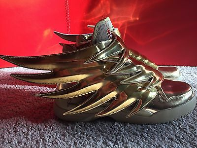 BNIB Limited Edition Jeremy Scott x Adidas Wings 3.0 Gold Size 11 RARE SOLD OUT