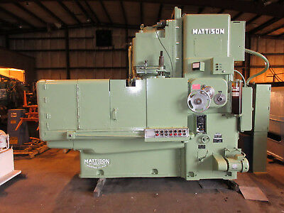 Mattison Vertical Rotary Surface Grinder Model 24-42 42 Chuck