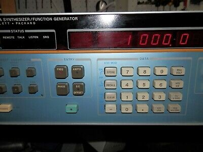 Hp Agilent 3325a Synthesizer Function Generator W Opt. 01