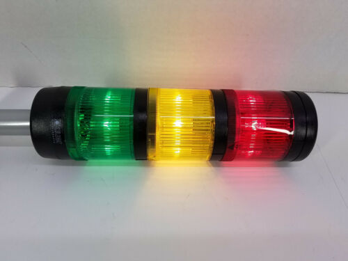 J. Auer Control Tower Stack Light Set w/ Type BMR Base and SLL R,Y,G 70mm Lights