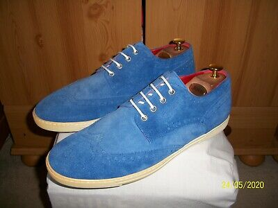 Junya Watanabe COMME des GARCONS MAN x Tricker's Suede Brogue Sneaker (11) Blue