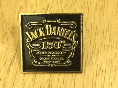 JACK DANIELS Whiskey 150 ANNIVERSARY Logo Metal LAPEL PIN BADGE Whisky NEW