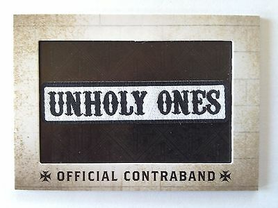 "Sons of Anarchy - Official Contraband - ""Unholy Ones"" - Replica Patch Card"