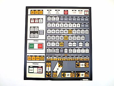 Cnc Machine Keypad Replacement Membraneoverlay 11-44-00. Nos