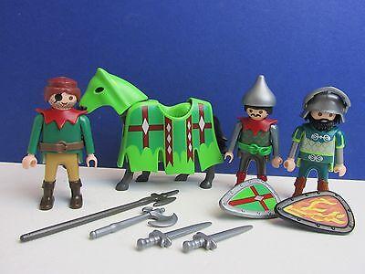 PLAYMOBIL castle ROBIN HOOD KNIGHTS WARRIORS figure TOY SET sword shield SET F65