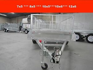 8x5 FULLY WELDED SINGAL AXLE HOT DIP GALVANISED TRAILER Dandenong South Greater Dandenong Preview