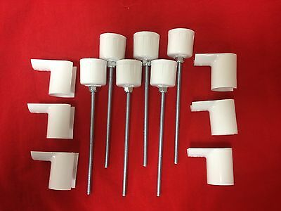 Dog Agility Equipment 6 Jump Cups and 6 Weave Pole Pegs