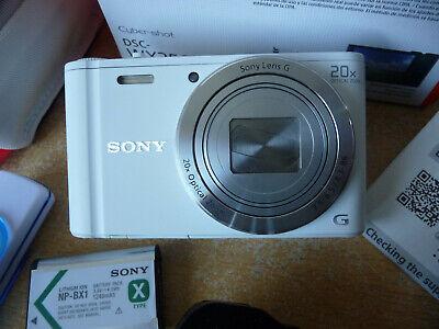 Sony Cyber-shot DSC-WX350 18.2MP WiFi Digital Camera - White-MINT CONDITION