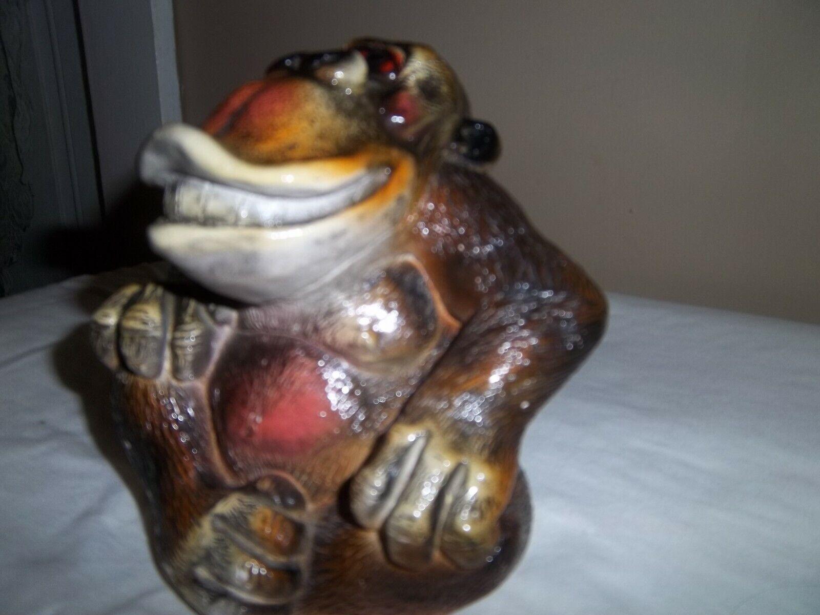 Gorilla Vintage Statue Sculpture Ape Monkey Art 1980 Accents Unlimited INC 2425 - $35.99