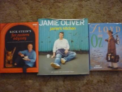 3 hardcover Cook Books Jamie Oliver , Rick Stein , Keith Floyd Panorama Mitcham Area Preview