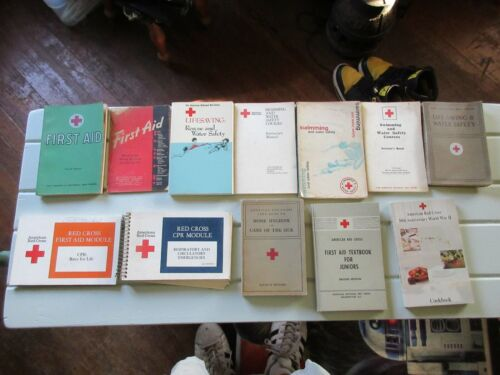 Lot of 12 Vintage American Red Cross Books Manuals