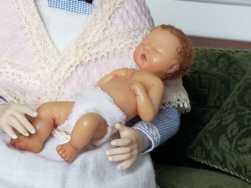 Dollhouse Miniature Artisan Camille Allen  LtEd Baby Doll Signed 1:12