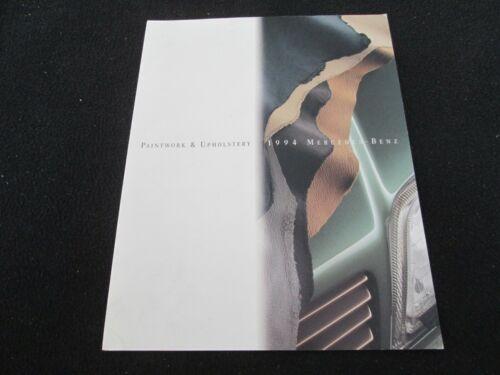 1994 Mercedes COLOR Chart Brochure E500 E320 Conv S420 S500 SL500 Sample Catalog
