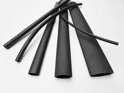 6ft Black Heat Shrink Tube Assortment 31 Dual Wall Adhesive Glue Line Marineto