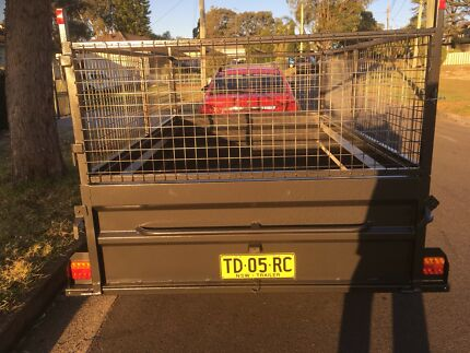 8x5 trailer with cage for hire $50 per day charge