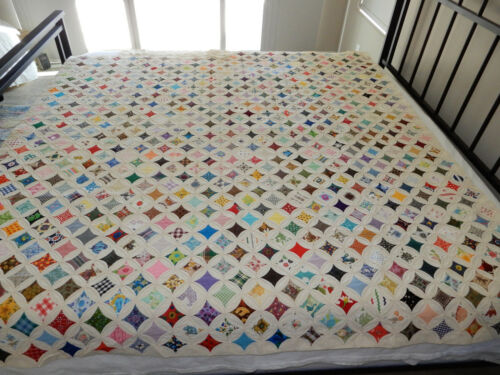 Gorgeous Almost Finished Cathedral Window Quilt