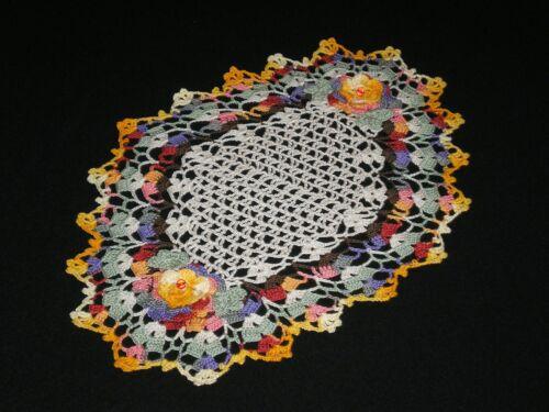 New Handmade Doily Crocheted  Roses