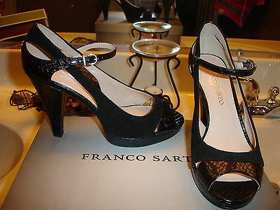 Franco Sarto Sulu Black leather Suede Heel Wedding Prom Bridal Quality Nice $89 - Bridal Leather Heels