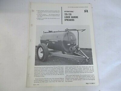 International 725 735 Liquid Manure Spreaders Sales Brochure