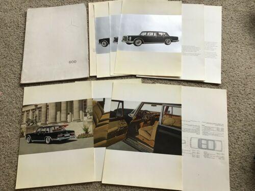 1965  Mercedes Benz 600 Series  original factory portfolio.