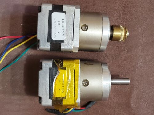 Kysan 5.2:1 Planetary Geared Stepper Motor Nema17 1040125, qty of 2 in auction