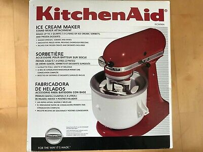 KitchenAid KICA0WH 2 Quart Ice Cream Maker Stand Mixer Attachment (NEW)
