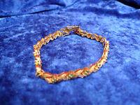 Elegante ,antiguo Pulsera__plata 925 Dorada__con Lijado Piedras_ -  - ebay.es