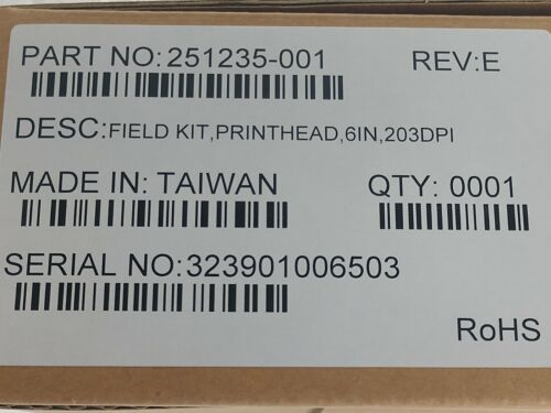 Printronix 251235-001 Field Kit, OEM Thermal Printhead, 6IT5206e, T5206r, 203dpi
