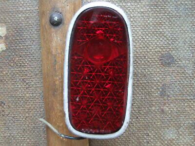 Alt Antik Rücklicht Rückleuchte Katzenauge Lampe Oldtimer Fahrrad Echtglas Glas