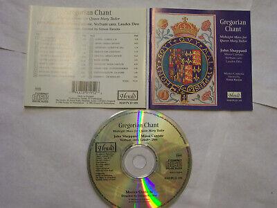 JOHN SHEPPARD/Musica Contexta: Gregorian Chant (Mass For Queen Mary Tudor) UK CD
