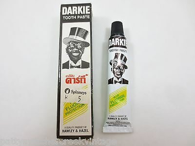Hawley and Hazel DARKIE TOOTH PASTE Black Americana New Old Stock w Box SMALL