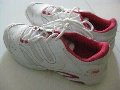 Wilson Womens Tour Vision Tennis Shoe WRS312630 White//Silver//Black