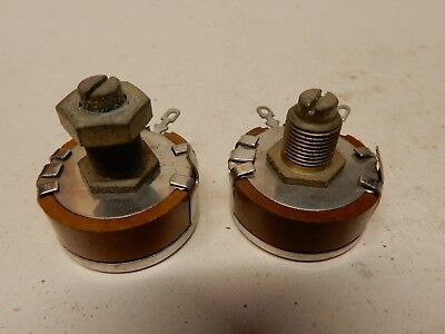 Reon Potentiometer Lot Of 2 500k And 2.5 Meg Nos
