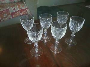 Sherry Crystal Glasses X6 Stoneville Mundaring Area Preview