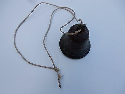 VERY OLD BELL BRASS  NO 8  GOOD SOUND  TING TING  9 CM TALL 8 CM DIAM AS BASE