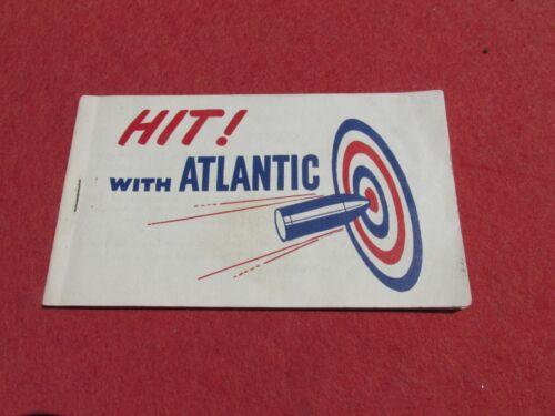 Hit with Atlantic Booklet Atlantic Motor oil  WW 2 Game